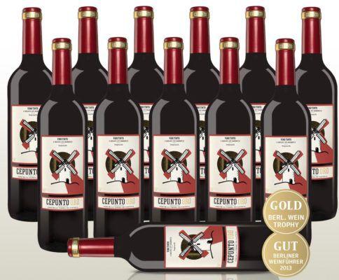 12 Fl. Cepunto Oro   spanischer Tempranillo Rotwein für 35,90€