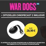 "Google Chromecast 2 + HD Stream:  ""WAR DOGS"" für 28,99€"