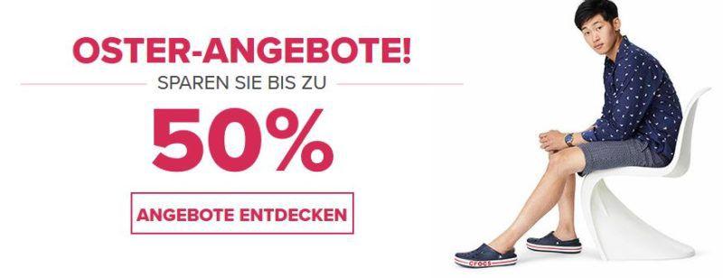 Crocs Oster Sale mit bis zu 50% Rabatt