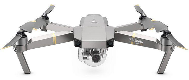 DJI Mavic Pro Platinum Drohne als Fly more Combo (30 Min. Flugzeit, geräuscharm, 4K Cam, Hinderniserkennung) für 814,50€ (statt 882€)