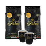 Grand Maestro Italiano Edizione Limitata 2kg Kaffeebohnen + 2 Espresso Tassen für 31,98€