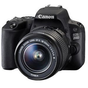 Canon EOS 200D   24MP DSL Kamera mit WLan u. Touchscreen +  Zubehör für 444€ (statt 564€)