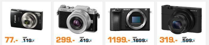 SATURN Foto Weekend Sale: z.B. PANASONIC Lumix DMC GF7K Systemkamera für 299€