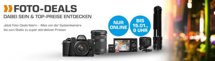 SATURN Foto Weekend Sale: z.B. PANASONIC Lumix DMC GF7K Systemkamera für 299€