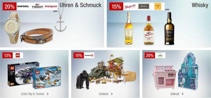 Galeria Kaufhof Sonntagsangebote   z.B. 15% Rabatt auf ausgewählte Whisky oder PLAYMOBIL Ghostbusters & Dragons uvam.
