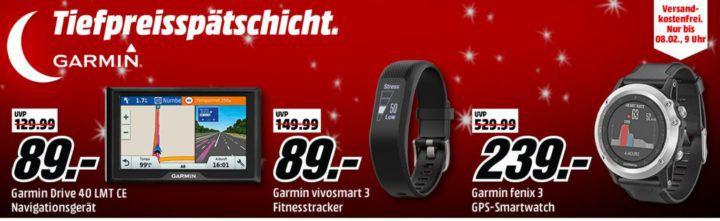 Media Markt Garmin Tiefpreisspätschicht: günstige FitnessTracker und Navis