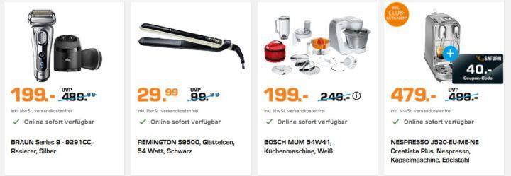 Saturn Beauty & Haushaltsnacht: z.B. BRAUN Series 9   9291CC Rasierer statt 279€ für 199€