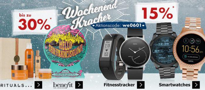 Karstadt Weekend Kracher: z.B. 15% Rabatt auf Fitnesstracker und Smartwatches