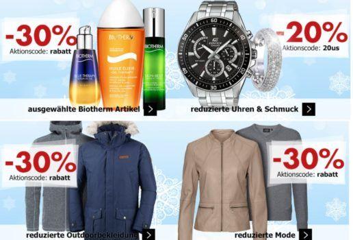 Karstadt Weekend Kracher: z.B. 30% auf reduzierte Mode & Outdoorbekleidung