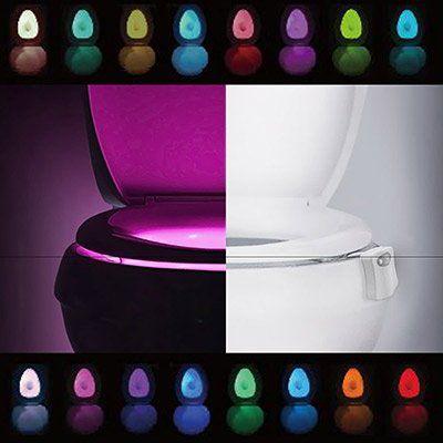Toilettenlicht mit Bewegungsmelder und 16 Farben für 3,19€