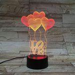 """3D LED Licht """"Love"""" mit 7 versch. Farben für 7,97€"""