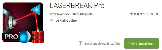 LASERBREAK Pro (Android) gratis statt 3,39€