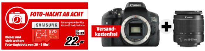 Media Markt Foto Late Night: Nikon & Canon Kameras + Zubehör   z.B. HAMA Star 61 Dreibein Stativ für 15€