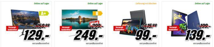 Media Markt Mega Marken Sparen: günstige Tablets, Monitore und aber auch Convertibles und Festplatten