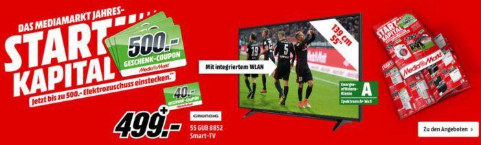 Media Markt Geschenkgutschein Staffel Rabatt bis 500€ Ersparnis