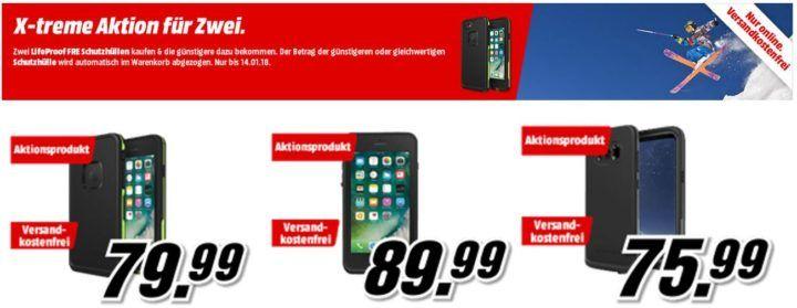 Lifeproof Cover für iPhone 7 + 8 Plus, iPhone 8 Samsung S8: 2 für 1 Multibuy ab 75,99€
