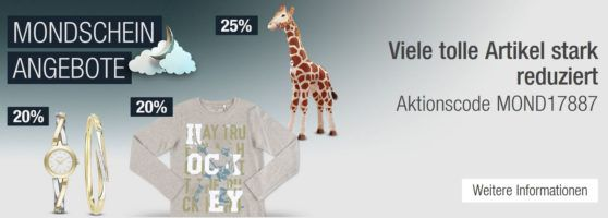 20% Rabatt auf Uhren und Schmuck der Marken DKNY, Moncara, Citizen, uvm.   Galeria Kaufhof Mondschein Angebote
