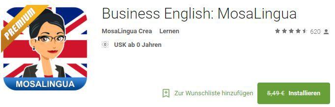 MosaLingua Premium – Englisch für den Beruf lernen (Android/iOS) kostenlos statt 5,49€