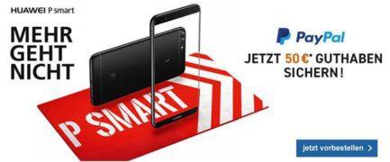 Huawei P Smart + Blau (O2) AllNet & SMS Flat + 3GB LTE dank Cashback für nur 19,95€ mtl.