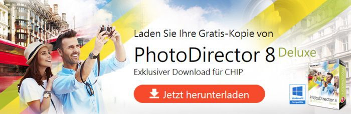 Cyberlink PhotoDirector 8 Deluxe (Lifetime Lizenz, Windows) kostenlos