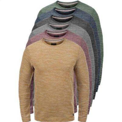 PRODUKT Pantaleon   Herren Langarm Sweater mit Rundhals Ausschnitt für 16,95€