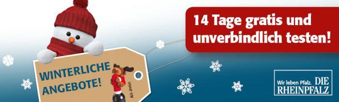 Die Rheinpfalz Zeitung 14 Tage gratis + Geschenk   endet automatisch
