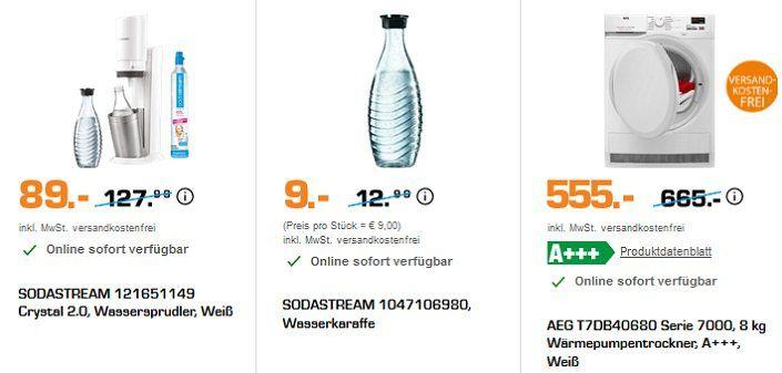 Saturn günstige Haushaltshelden:    z.B. z.B. AEG CX7 35ÖKO Akkusauger für 129€ (statt 169€)