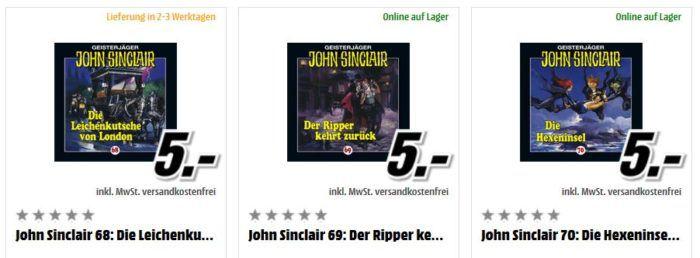 John Sinclair Geisterjäger   Hörbücher für je 5€