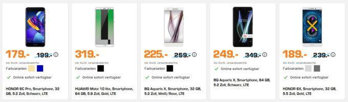 Saturn: Nacht der Smartphones   z.B. GOOGLE PIXEL 2 XL 64GB statt 839€ für 739€
