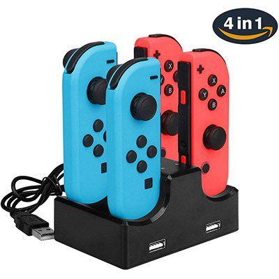 4 in 1 Charging Dock für Nintendo Switch Joy Con inkl. 2 USB Ports für 5,16€