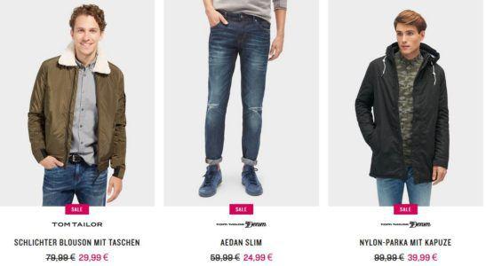 Tom Tailor Winter Sale mit bis 70% Rabatt + 14% Extra Rabatt auf Alles bis Mitternacht   z.B. Jeans ab 17,99€ Jacken ab 29,99€