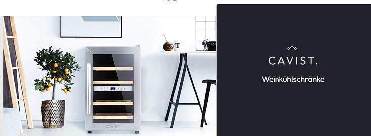 Cavist. Weinkühlschränke im OneDay Sale bei Veepee   z.B. Cavist.28 für 188,99€ (statt 229€)