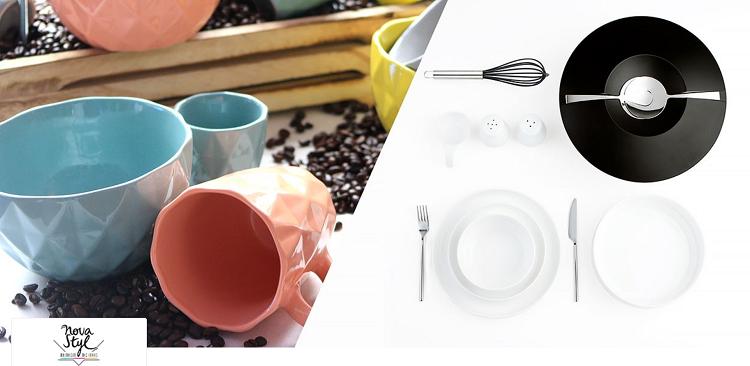 Novastyl Sale mit Geschirr, Besteck und Zubehör bei Vente Privee   z. B. 6 Dessertteller ab 19,90€ (statt 32€)