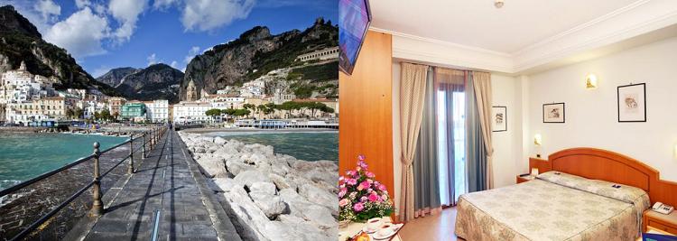 4, 7 o. 10 ÜN im 3* Hotel an der Amalfiküste inkl. Halbpension, Flüge, Mietwagen (unbegrenzte Kilometer, Vollkasko) ab 409€ p.P.