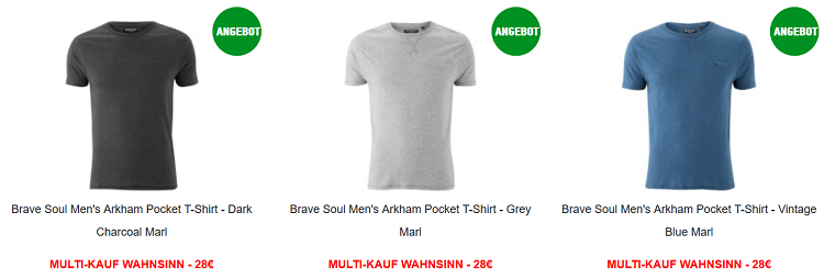 Multi buy Madness bei Zavvi   komplettes Outfit für 28€