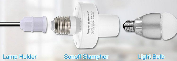 Sonoff WiFi Remote Glühbirnenhalter für 8,99€