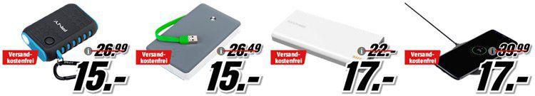 Media Markt Powerbank Aktion: günstige Akkus für Unterwegs ab 6€ inkl. VSK