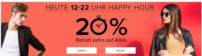 Bis 22Uhr: dress for less Happy Hour bis 70% Rabatt + 20% extra Rabatt frei z.B. Hilfiger Poloshirts ab 36€