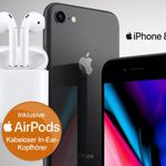 Apple iPhone 8 64GB + Apple Airpods + Vodafone AllNet & SMS + 6GB LTE Flat für 51,99€