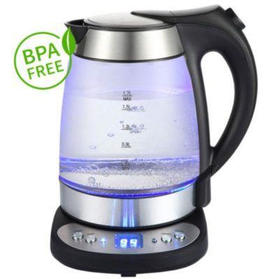 Grafner Glas Edelstahl LED Wasserkocher für 28,90€