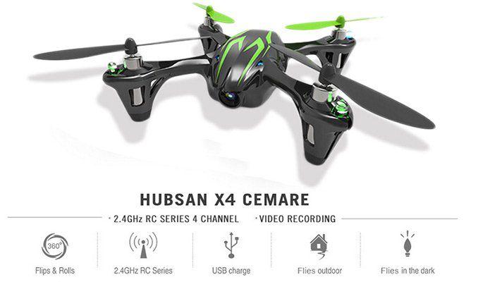 Hubsan X4 H107C   2.4G 4CH RC RTF Quadcopter für 31,23€ (statt 40€)