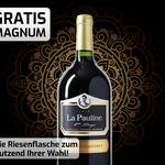 """Weinvorteil: 1,5 Liter Magnumflasche """"La Pauline – 1er Tirage"""" beim Kauf von 12 Flaschen Wein geschenkt"""