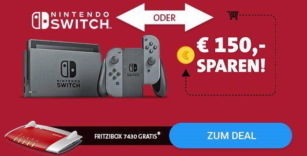 Vodafone RED DSL 50 für eff. 24,57€ mtl. oder mit Nintendo Switch für eff. 33,69€ + gratis Fritzbox 7430