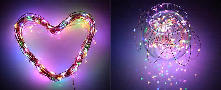 10m LED Draht Lichterkette (100 LEDs) für 4,03€