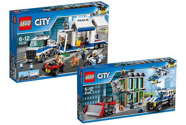 LEGO City Bundle: Mobile Einsatzzentrale 60139 und Bankraub mit Planierraupe 60140 für 56,54€ (statt 74€)