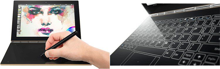 Lenovo Yoga Book (ZA0W0022) mit LTE, Android 6, 64GB, 4GB RAM für 349€ (statt 514€)
