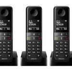 PHILIPS D4553B/39 Schnurloses Telefon mit 3 Mobilteilen für 50€ (statt 65€)
