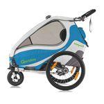 QERIDOO KidGoo2 Fahrradanhänger – 2-Sitzer für Kinder (2017er Modell) für 354,99€ (statt 389€)