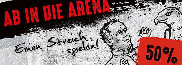 Ab morgen 10 Uhr! 50% Rabatt auf Tickets für Eintracht Frankfurt vs SC Freiburg