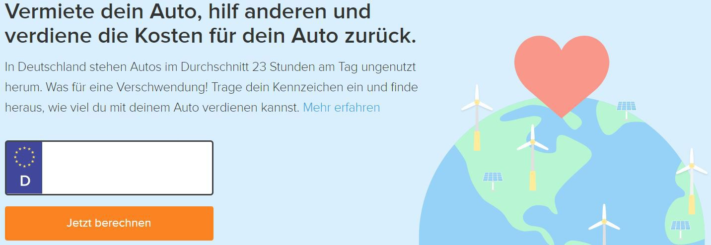 Mit dem eigenen Auto Geld verdienen   so gehts!